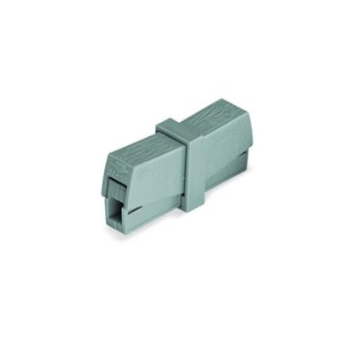 Conector Eléctrico Resorte 2p Punto Test Grisx50