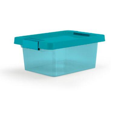 Caja Organizadora Con Broches 4 Lt Azul
