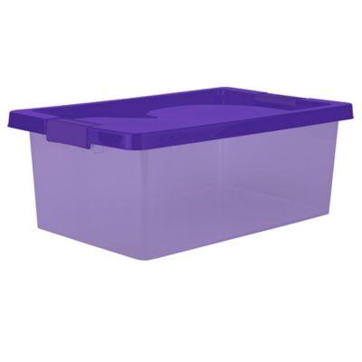 Caja Organizadora Con Broche 29x18x46.8 cm 16 Litros Morado