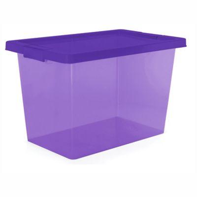 Caja Organizadora Con Broche 29x30x46.8 cm 25 Litros Morado
