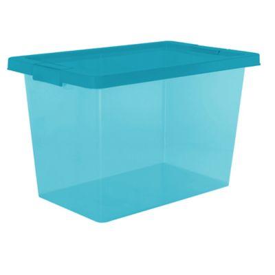 Caja Organizadora Con Broche 29x30x46.8 cm 25 Litros Azul