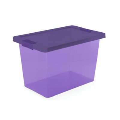 Caja Organizadora Con Broches 7.5 Lt Morado