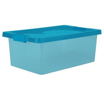 Caja Organizadora Con Broche 29x18x46.8 cm 16 Litros Azul