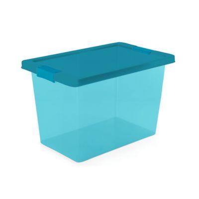 Caja Organizadora Con Broche 21.5x21x30 cm 7.5 Litros Azul
