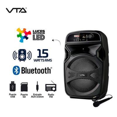 Amplificador Recargable 15W Rms Micrófono Y Luces