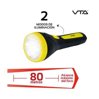 Linterna Recargable 2 Modos de Iluminación Alcance 80mt
