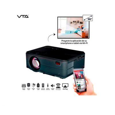 Proyector HD Con WiFi 1500 Lumens Amplía 180 Pulgadas