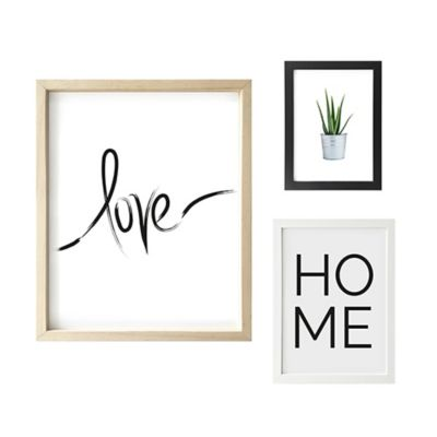 Set x3 Cuadros Love / Home