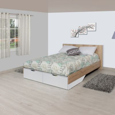 Cama Doble Frida 81.1x152.8x197.5cm Duna Blanco
