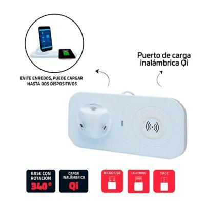 Multicargador Para Smartphone Base Carga Inalámbrica