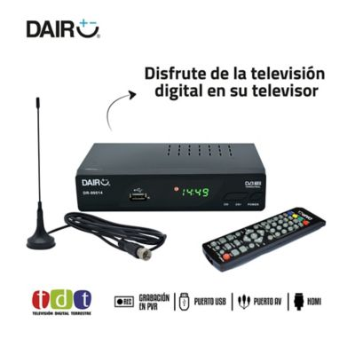 Decodificador Con Antena Cable HDMI Grabación Pvr