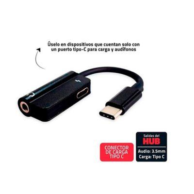 Convertidor Conector Tipo C A Audio 3.5mm Y Carga