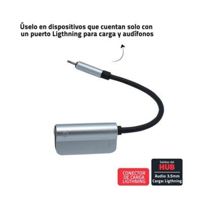 Convertidor Conector Ligthning A Audio 3.5mm + Carga