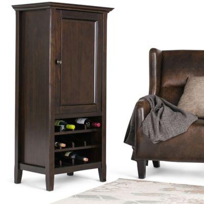 Mueble para Vinos 1 Puerta 61x43x127cm Café Oscuro