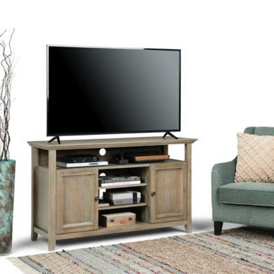 Mesa para TV Hasta 60 Pulgadas 2 Puertas 4 Entrepaños 137x48x81 Gris Desgastado