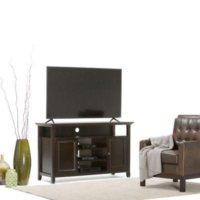Mesa para TV Hasta 60 Pulgadas 2 Puertas 4 Entrepaños 137x48x81 Café Oscuro