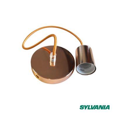 Luminaria Sylpendan Vintage E27 Dorado Con Cable
