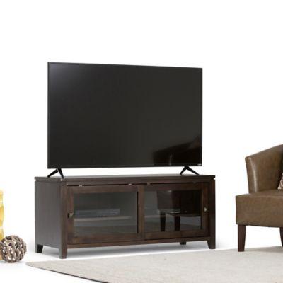 Mesa para TV Hasta 53 Pulgadas Vitrina 122x45x53cm Caoba