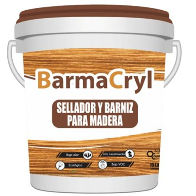 Barmacryl Barniz para Madera 1/2 Cuñete Verde