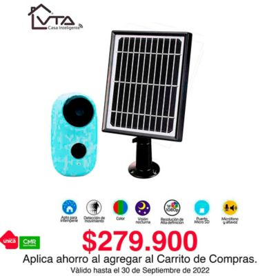 Cámara IP Recargable / Solar Full HD 1080P