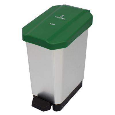 Caneca Estrabins Pedal 10 Litros No Reciclable Metalizada