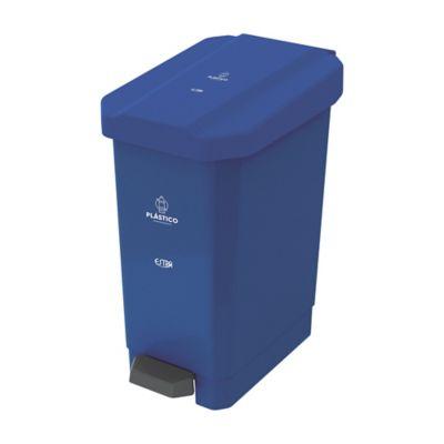 Caneca Estrabins Pedal 44 Litros Azul Plastico