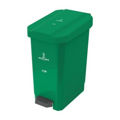 Caneca Estrabins Pedal 44 Litros Verde No Reciclable