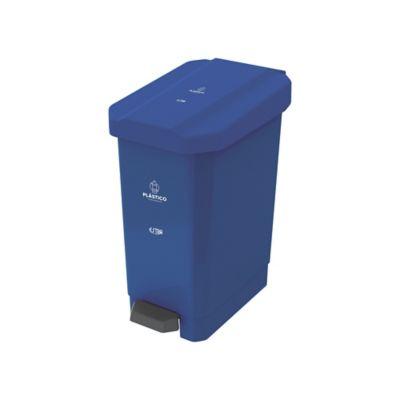 Caneca Estrabins Pedal 22 Litros Azul Plastico