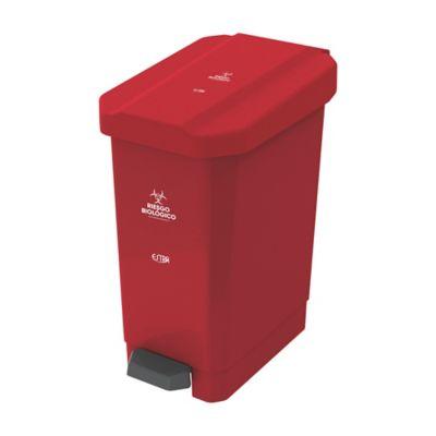 Caneca Estrabins Pedal 44 Litros Rojo Riesgo Biológico