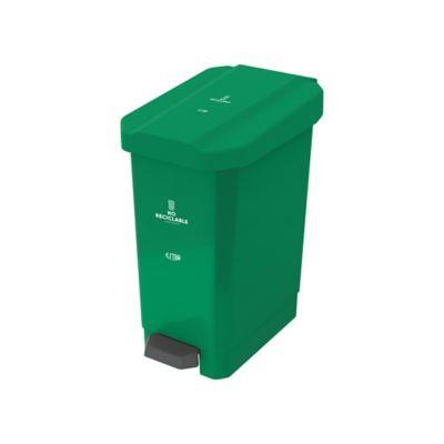 Caneca Estrabins Pedal 22 Litros Verde No Reciclable