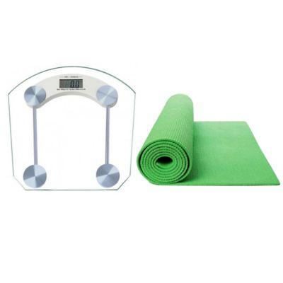 Báscula Digital Vidrio+Colchoneta Yoga 6mm Verde