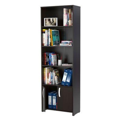 Biblioteca Dali 2 Puertas 182x60x25cm Wengue