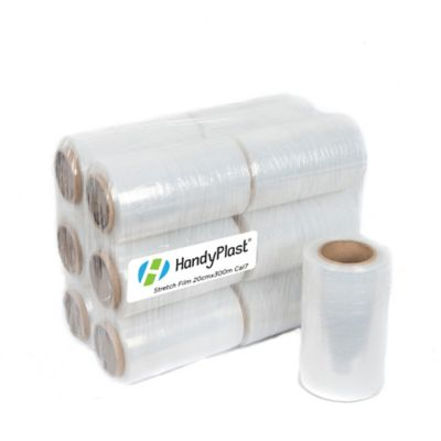 Set x 12 Rollo Stretch Film 20cm x 300m Calibre 7
