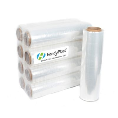 Set x 8 Rollo Stretch Film 45cm x 400m Calibre 7
