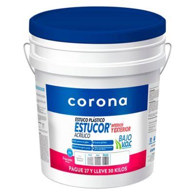 Estuco Plástico Para Exterior 30 Kilos, Pague 27 Lleve 30 Kilos
