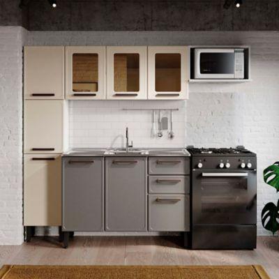 Cocina Integral Origens 2.20 metros Incluye Lavaplatos Beige - Gris