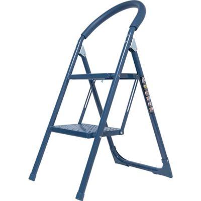 Escalera 2 Pasos Metal Azul Oscuro