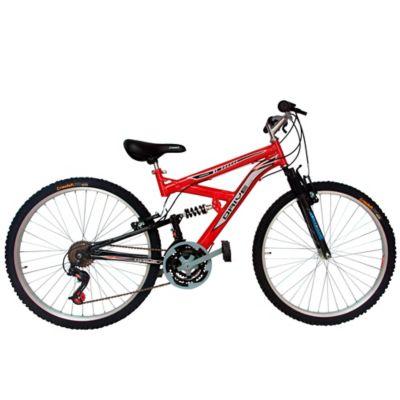 Bicicleta en Acero Drivenew con Suspensión 26 Pulgadas de 18 Velocidades Roja