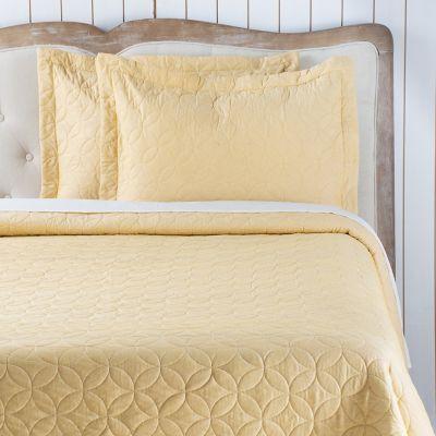 Quilt Most Amarillo/Beige Sherpa Doble