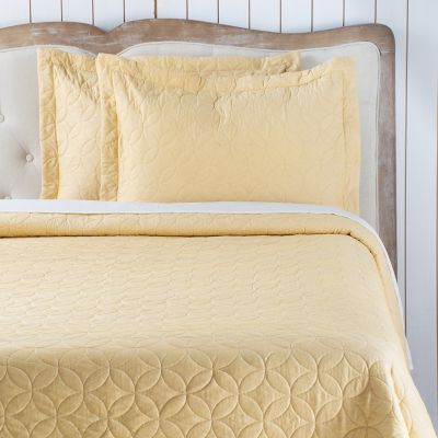 Quilt Most Amarillo/Beige Sherpa Sencillo