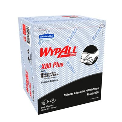 Paño Wypall X80 Power Pockets Azul Paquete 30Und
