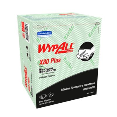 Paño Wypall X80 Power Pockets Verde Paquete 30Und