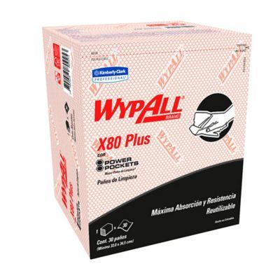 Paño Wypall X80 Power Pockets Rojo Paquete 30Und