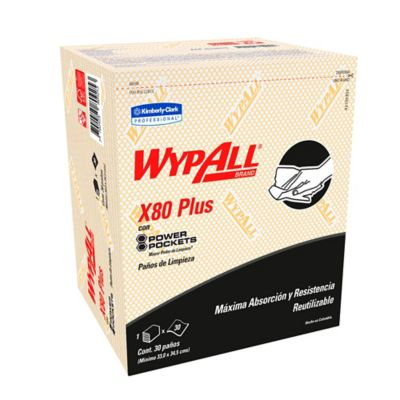 Paño Wypall X80 Power Pockets Amarillo Paquete 30Und
