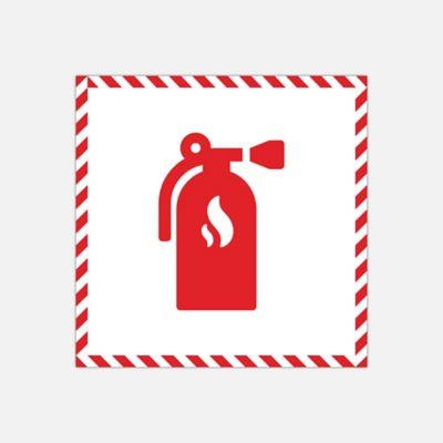 Señal Extintor Adhesiva para Piso 25X25 cm