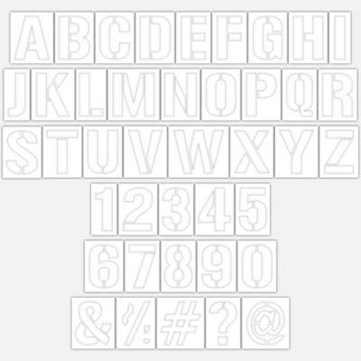 Plantillas Abc/Números para Pisos 12 cm 41 Piezas
