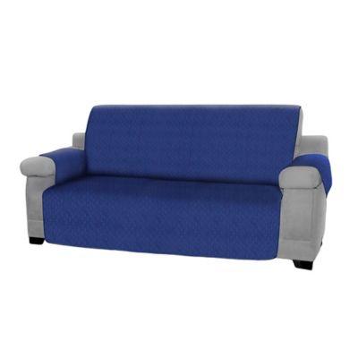 Forro Protector de Muebles Reversible Azul 3 Puestos