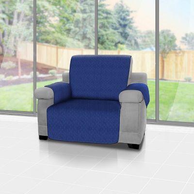 Forro Protector de Muebles Reversible Azul 1 Puesto