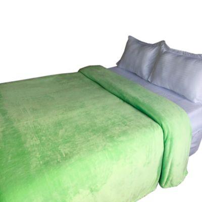 Cobija Coral Unicolor 160X220Cm Sencillo Verde