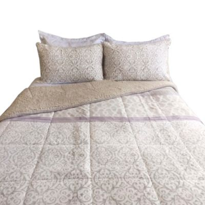 Comforter Sherpa Doble Beige